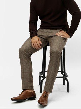 Pantaloni formali maro in carouri Selected Homme
