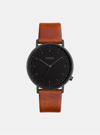 Pánské hodinky s hnědým koženým páskem Komono Winston Subs