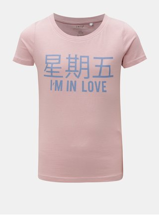 Staroružové dievčenské tričko s potlačou LIMITED by name it