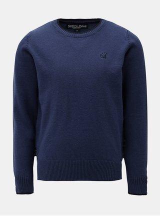 Tmavě modrý klučičí svetr s drobnou výšivkou North Pole Kids