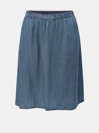 Modrá tenká rifľová sukňa Ulla Popken
