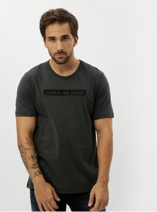 Sivé tričko s výšivkou JUNK de LUXE