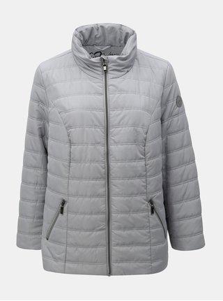 Sivá zimná prešívaná bunda Ulla Popken