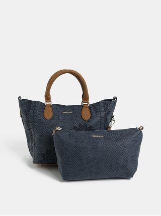 Modrá vzorovaná kabelka s pouzdrem Desigual Aquiles