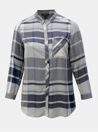 Modro-sivá vzorovaná košeľa Ulla Popken