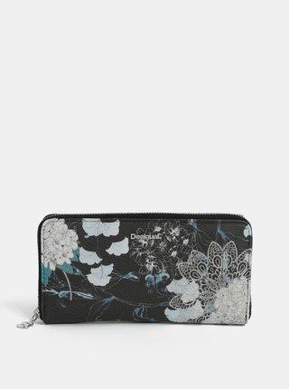 Krémovo-čierna vzorovaná peňaženka Desigual Arcadia