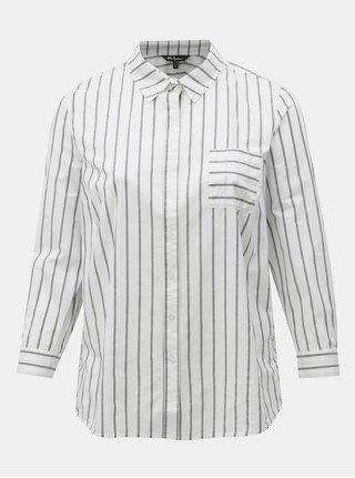 5d7c9e380a56 Sivo-biela pruhovaná košeľa Ulla Popken