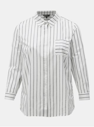 Sivo-biela pruhovaná košeľa Ulla Popken