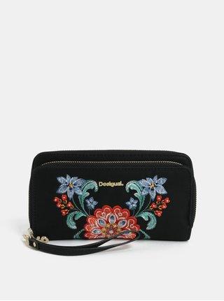 Čierna peňaženka s výšivkou  Desigual Odissey
