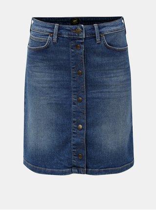 Modrá džínová sukně s patentkami Lee