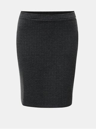 Šedá vzorovaná sukně s elastickým pasem Yerse