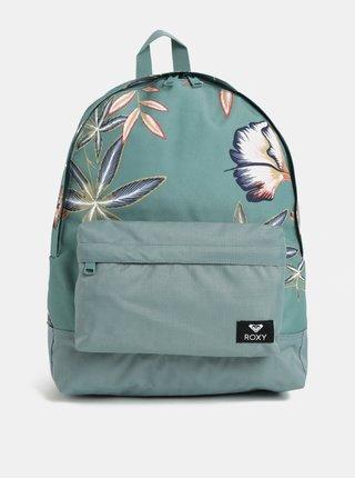 Zelený květovaný batoh Roxy Carribean