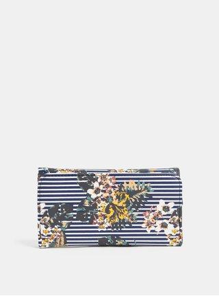 Modrá pruhovaná peňaženka Roxy Medival