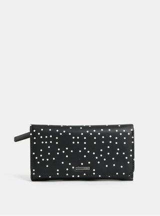 Čierna bodkovaná peňaženka Roxy