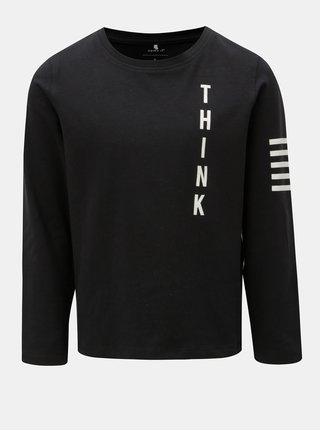 Čierne chlapčenské tričko s potlačou Name it Okyo