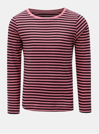 Modro–ružové dievčenské pruhované tričko Name it Verit