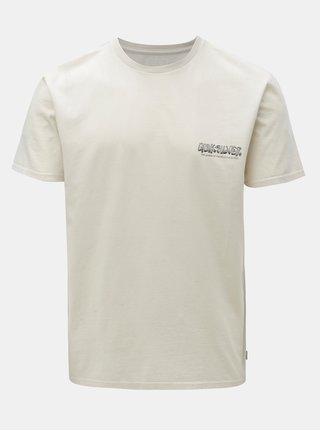 Béžové pánske modern fit tričko s potlačou na chrbte Quiksilver