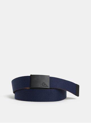 Hnědo-modrý pánský oboustranný pásek Quiksilver