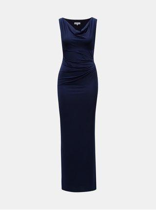 Rochie maxi albastru inchis cu slit Dorothy Perkins