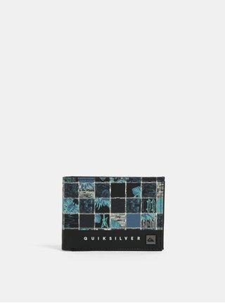 Modro-čierna pánska vzorovaná peňaženka Quiksilver