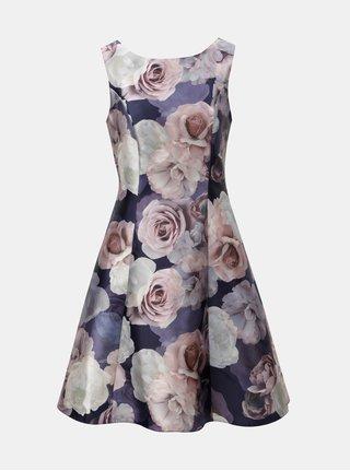 Ružovo-fialové kvetované šaty Dorothy Perkins