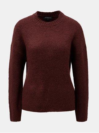 Vínový sveter s prímesou vlny a alpaky Selected Femme Regina