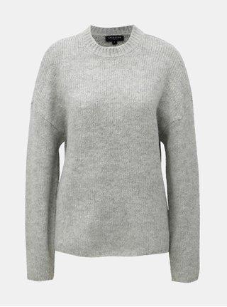 Sivý sveter s prímesou vlny a alpaky Selected Femme Regina