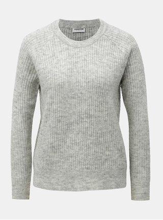 Pulover gri cu amestec de lana Noisy May Vitta