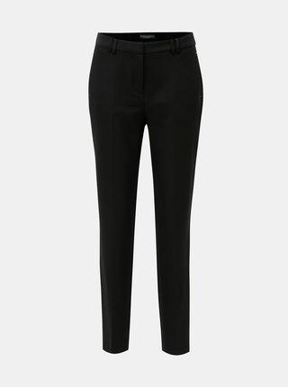 Pantaloni slim fit structurat negri cu talie inalta Dorothy Perkins Tall
