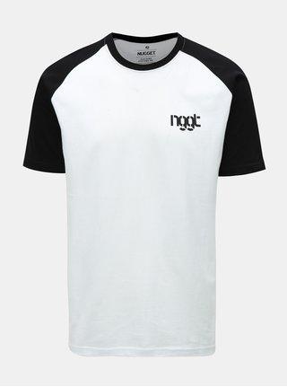 Tricou barbatesc negru-alb Nugget