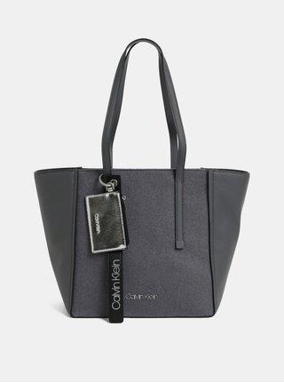 Sivá kabelka s prímesou vlny Calvin Klein Jeans