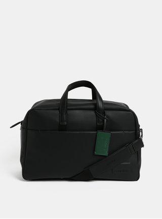 Čierna koženková cestovná taška Calvin Klein Jeans