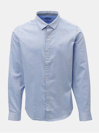 Svetlomodrá pánska melírovaná slim fit košeľa s.Oliver