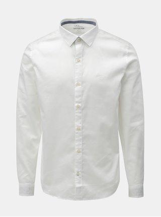 Biela pánska slim fit košeľa s.Oliver