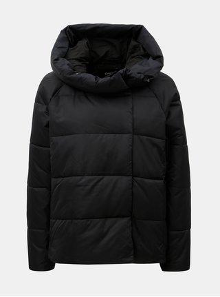 Černá prošívaná zimní bunda s kapucí ONLY June