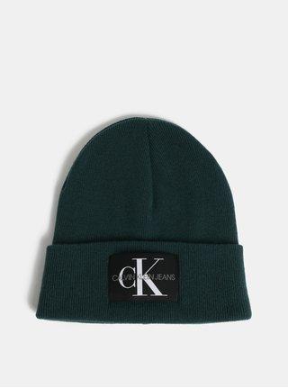 Zelená čiapka s prímesou vlny a kašmíru Calvin Klein Jeans