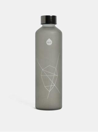 Skleněná láhev na vodu v šedé barvě EQUA 750 ml