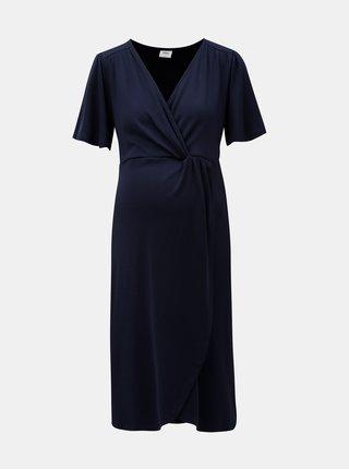 Tmavomodré tehotenské šaty Mama.licious Suri