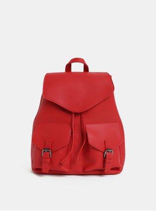 Červený dámský batoh s kapsičkami Pieces Tyler
