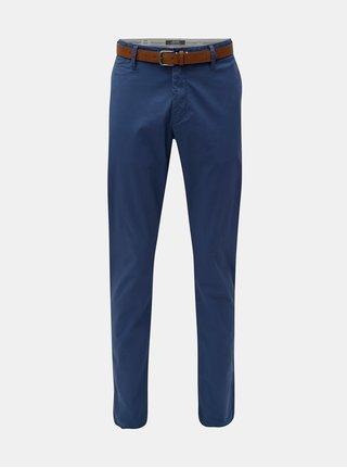 Pantaloni chino slim fit straight albastri cu curea s.Oliver