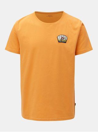 Tricou oranj cu aplicatie Makia Creek
