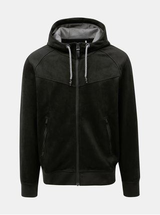 Čierna pánska mikinová bunda s.Oliver