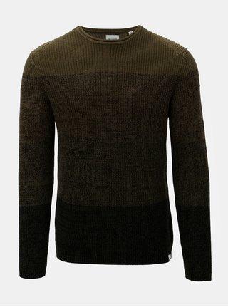 Khaki žíhaný svetr ONLY & SONS Sato