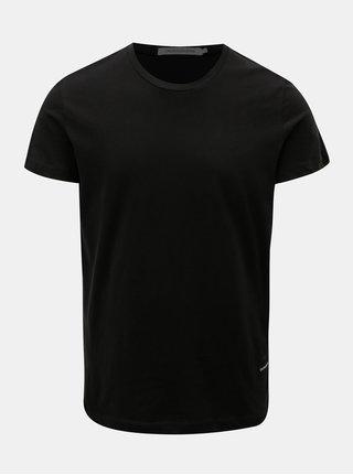 Čierne pánske tričko s nášivkou Calvin Klein Jeans
