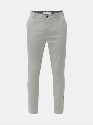 Pantaloni chino gri Burton Menswear London