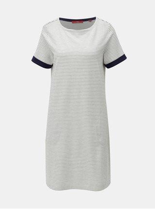 Modro-bílé pruhované šaty s.Oliver