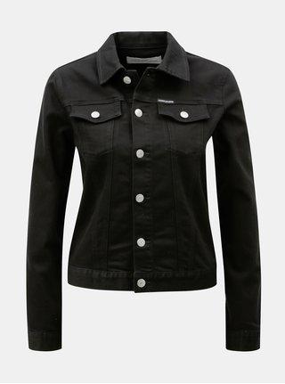 Čierna dámska rifľová bunda Calvin Klein Jeans