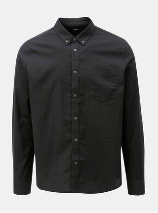 Čierna košeľa s náprsným vreckom Burton Menswear London Oxford