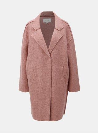 Ružový vlnený kabát VILA Rah