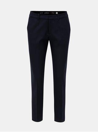 Pantaloni de dama albastru inchis crop cu talie joasa s.Oliver